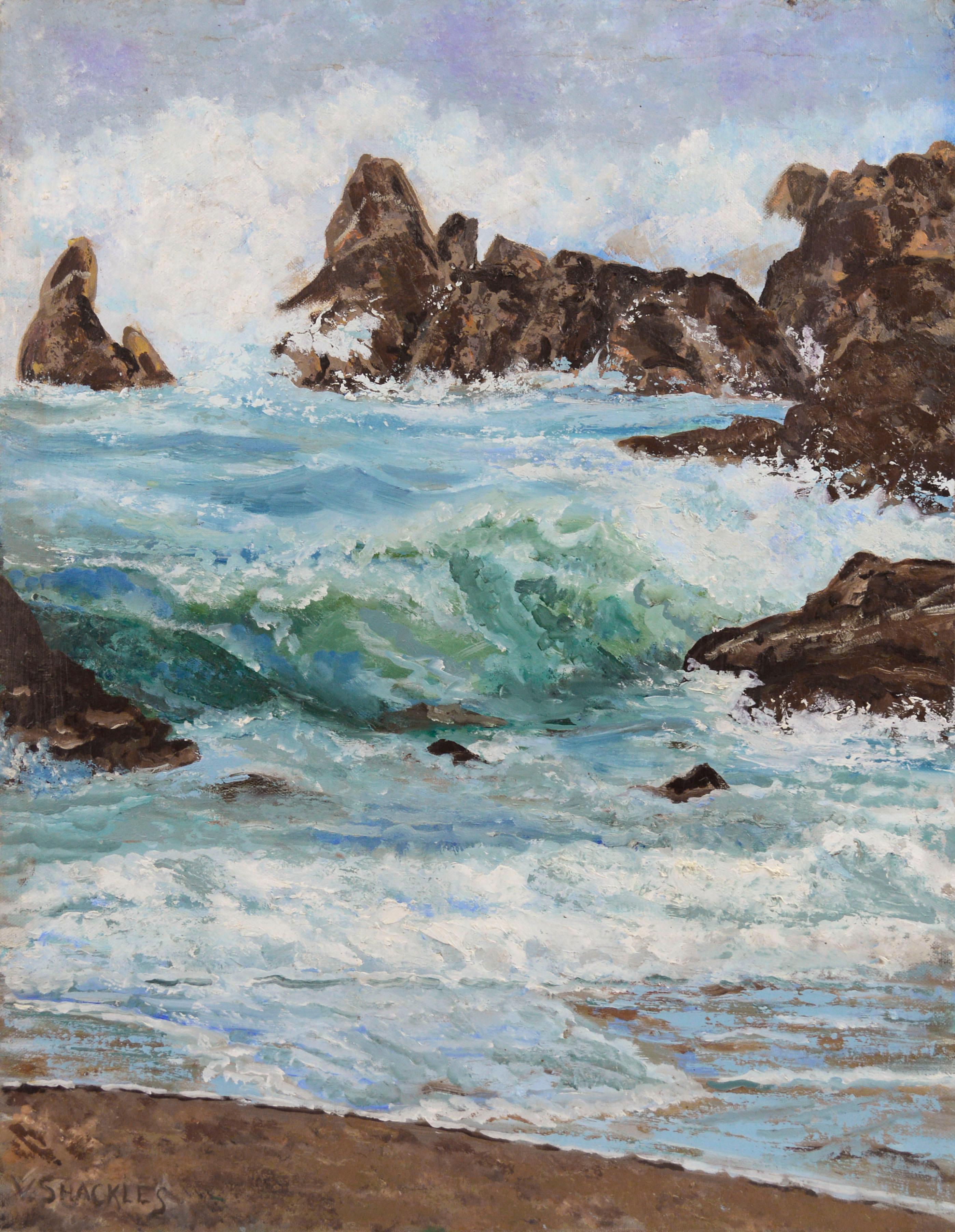 Rocky Seascape; Monterey, California
