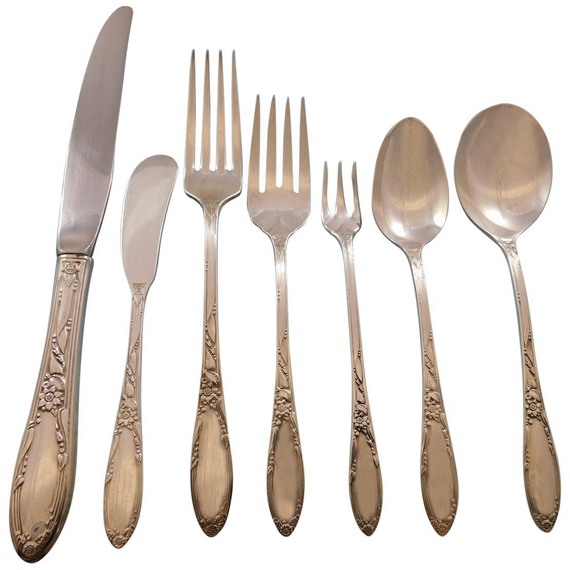 Oneida Heiress Cocktail Fork Sterling Silver Flatware
