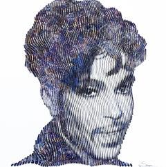 Purple Rain Prince - 3D Textural Artwork