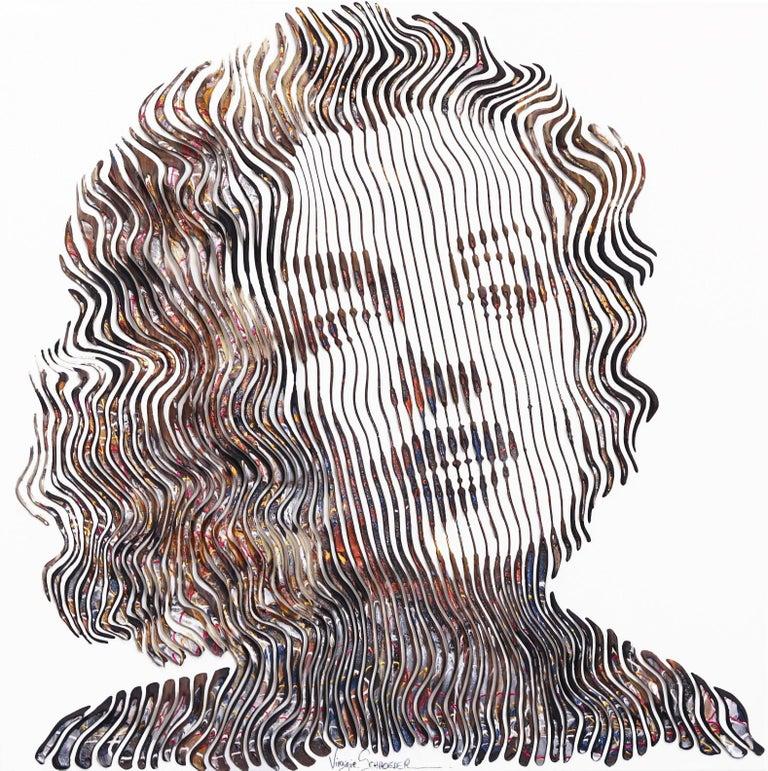 Virginie Schroeder Portrait Painting - Tell Me Everything Marilyn