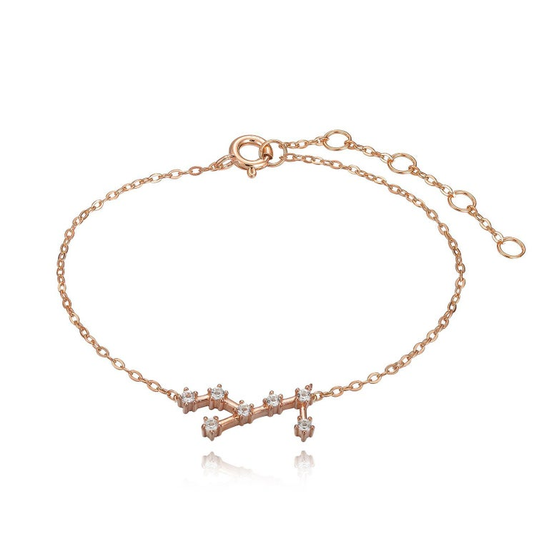 You are unique and your zodiac tells part of your story.  How your zodiac is displayed in the beautiful nighttime sky is what we want you to carry with you always. This virgo constellation bracelet shares a part of your personality with us all  .925