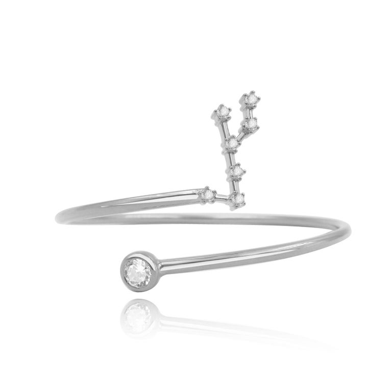 You are unique and your zodiac tells part of your story.  How your zodiac is displayed in the beautiful nighttime sky is what we want you to carry with you always. This virgo constellation wire bezel cuff shares a part of your personality with us