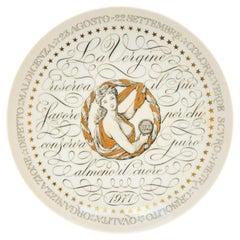 Virgo, Zodiac Plate Series by Piero Fornasetti, 1971