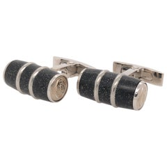 Visconti Homo Sapien Steel Black Cufflinks