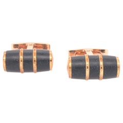 Visconti Homosapien Bronze and Black Cufflinks