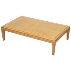 Viscount David Linley Sycamore Walnut with Chrome Inlay Coffee Table