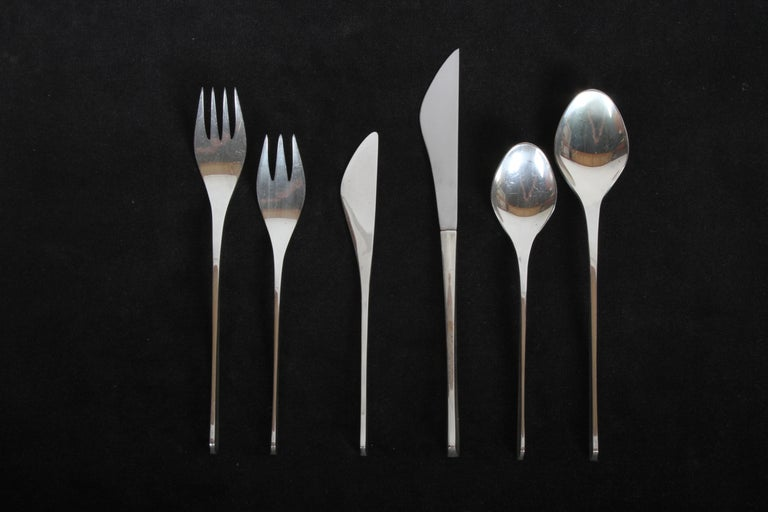 Sterling Silver Vision International Sterling Flatware Set by Ronald Pearson for 12-75 Pieces For Sale