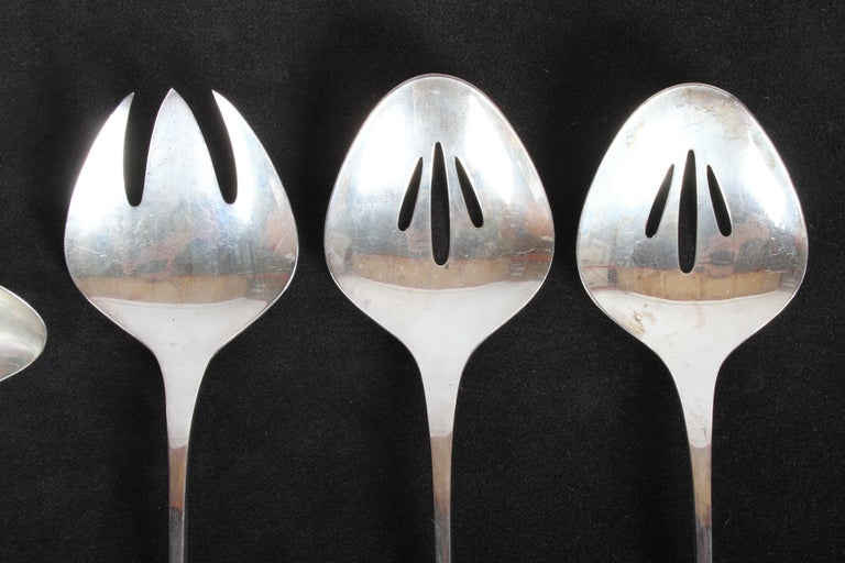 Vision International Sterling Flatware Set by Ronald Pearson for 12-75 Pieces For Sale 2