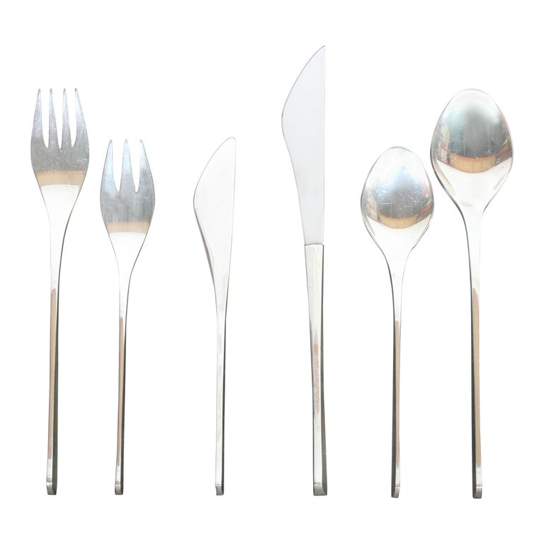 Vision International Sterling Flatware Set by Ronald Pearson for 12-75 Pieces For Sale