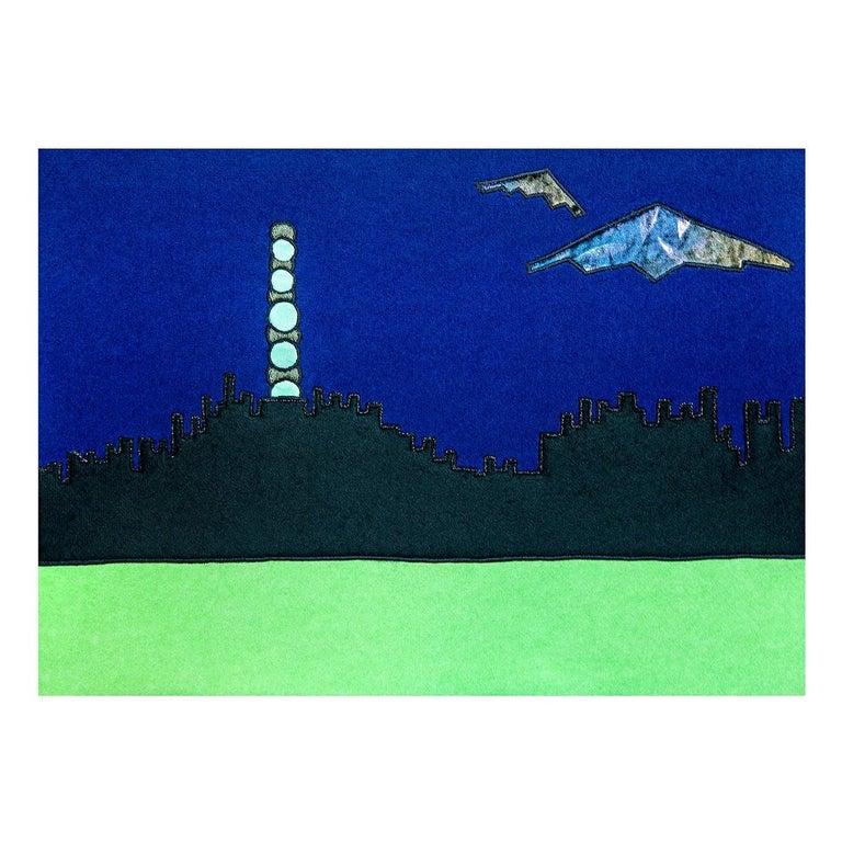 Visione Di Città Future Tapestry #1 For Sale