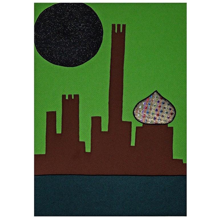 Visione Di Città Future Tapestry #17 For Sale