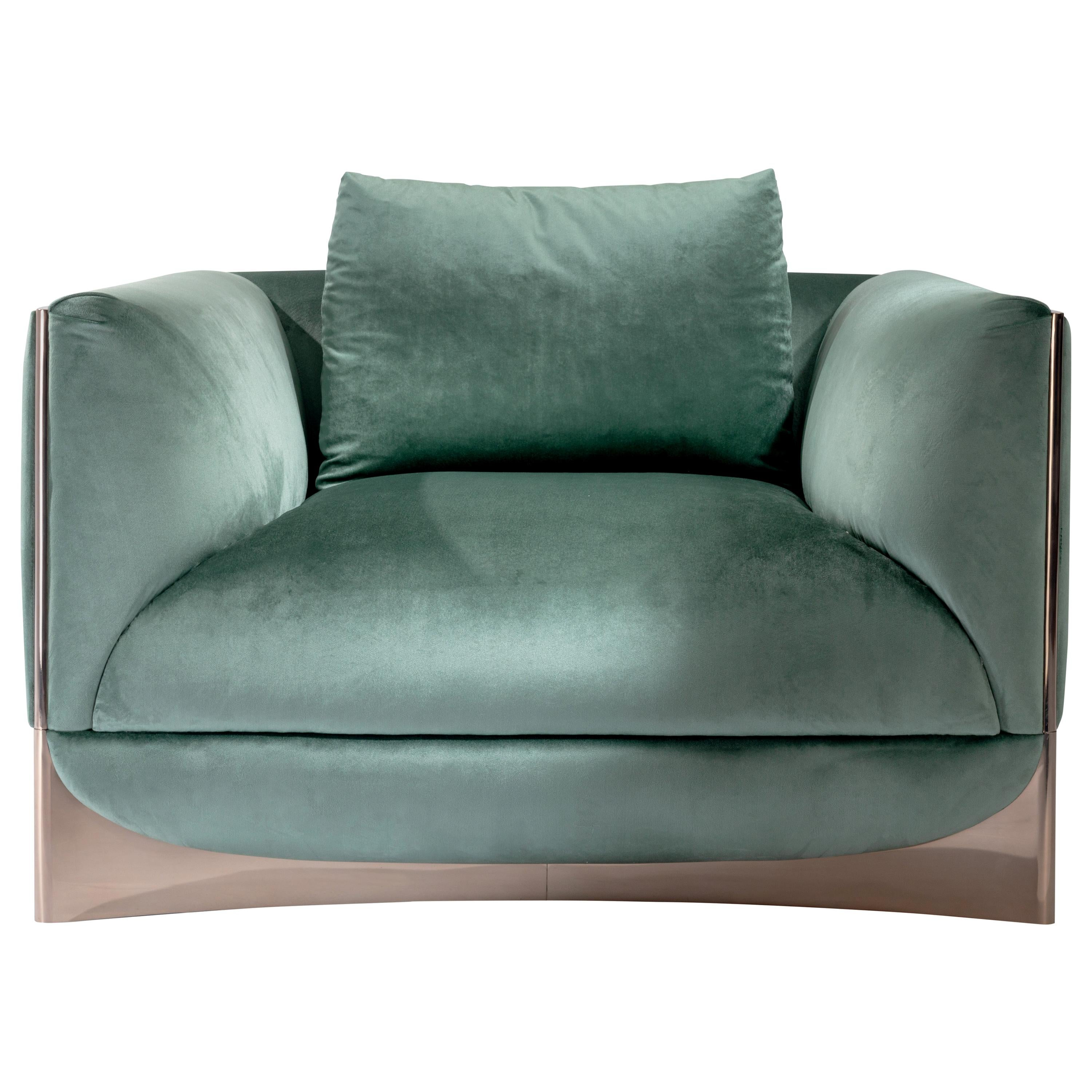 Visionnaire Cà Foscari Armchair in Wood with Upholstery by Alessandro La Spada