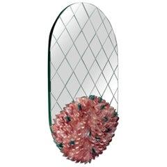 Visionnaire Foglia Oval Mirror in Murano Glass by Zanellato Bortotto