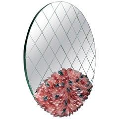 Visionnaire Foglia Round Mirror in Murano Glass by Zanellato Bortotto