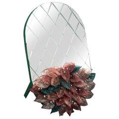 Visionnaire Foglia Table Mirror in Murano Glass by Zanellato Bortotto