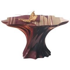 Visionnaire Gorgona Low Table in Polyurethane Resin by Alessandro La Spada