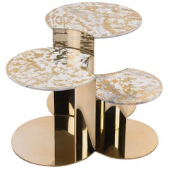 Visionnaire Granger Set of 3 Low Tables in Stainless Steel, Alessandro La Spada
