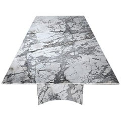 Visionnaire Kervan Dining Table with Marble Top by Alessandro La Spada