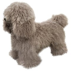 Visionnaire Klipper Dog Pouffe in Mongolian Wool Cover by Samuele Mazza