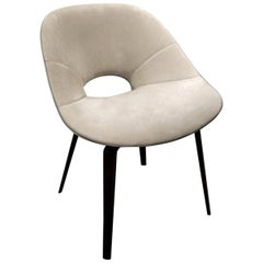 Visionnaire Tanya Armchair with Aluminum Legs and Foam Seat by Roberto Lazzeroni