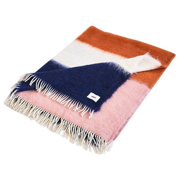 Viso Mohair Blanket V01 navy For Sale