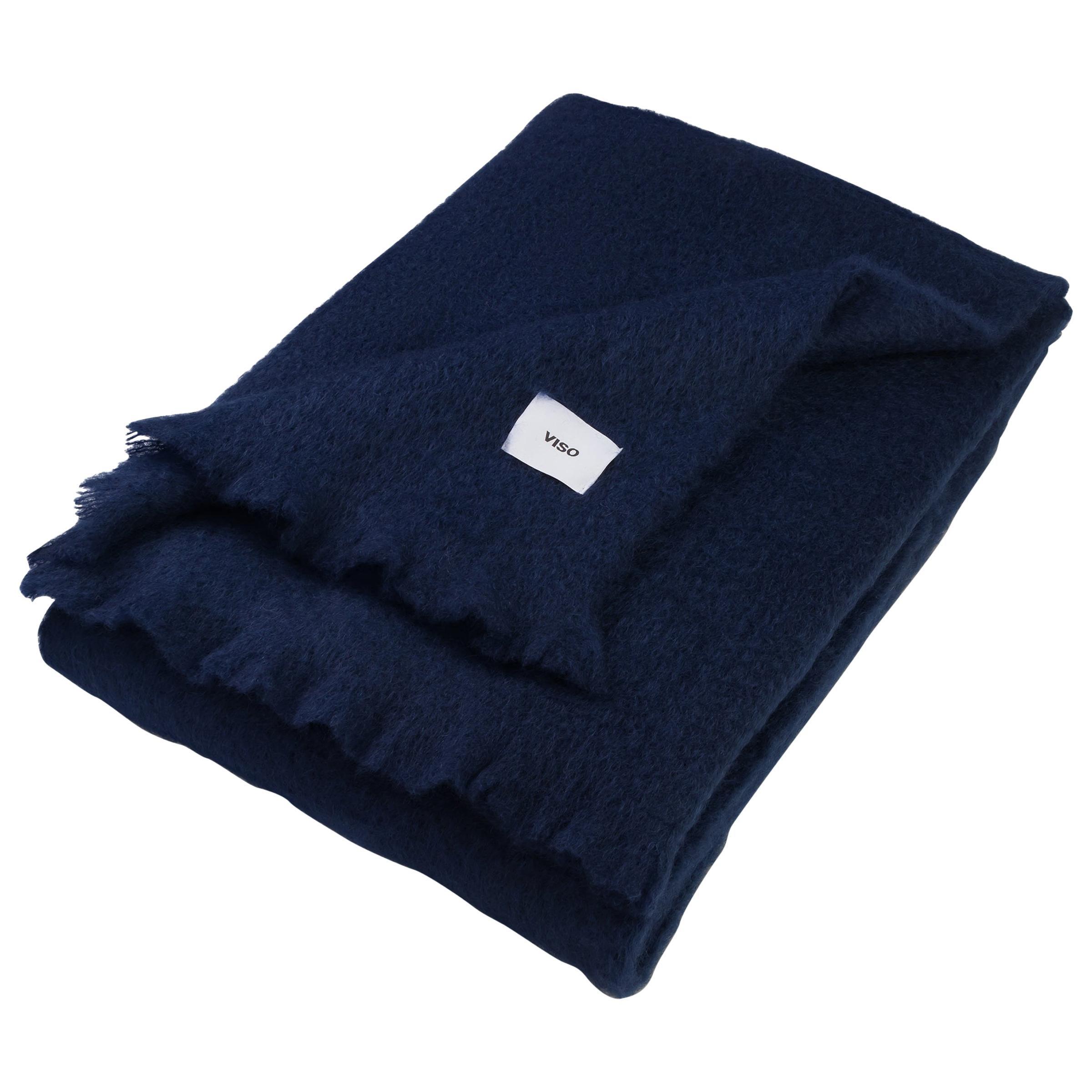 Viso Mohair Blanket V02 Navy