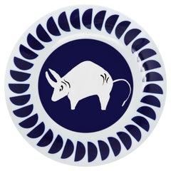 Viso Porcelain Zodiac Plate Taurus