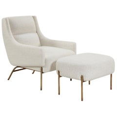 Vista Lounge Chair, Contemporary Armchair in Mark Alexander Upholstery