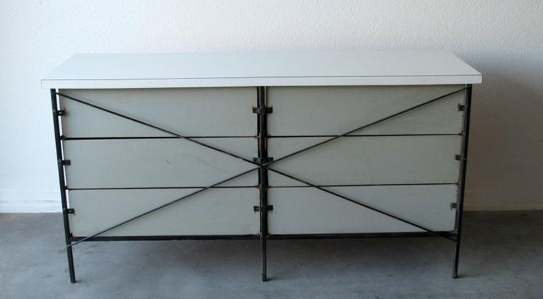 20th Century Mid-Century Modern Nelson Style Chest of Drawers Vista of California For Sale