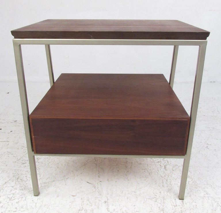Mid-20th Century Vista of California Midcentury Walnut Nightstands For Sale