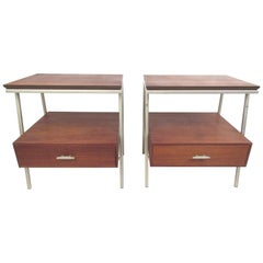 Vista of California Midcentury Walnut Nightstands