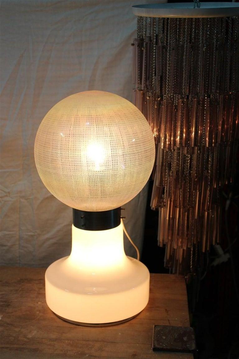 Vistosi Ball White Table Lamp Pop Art Italy 1970s Italian Design Steel For Sale 4