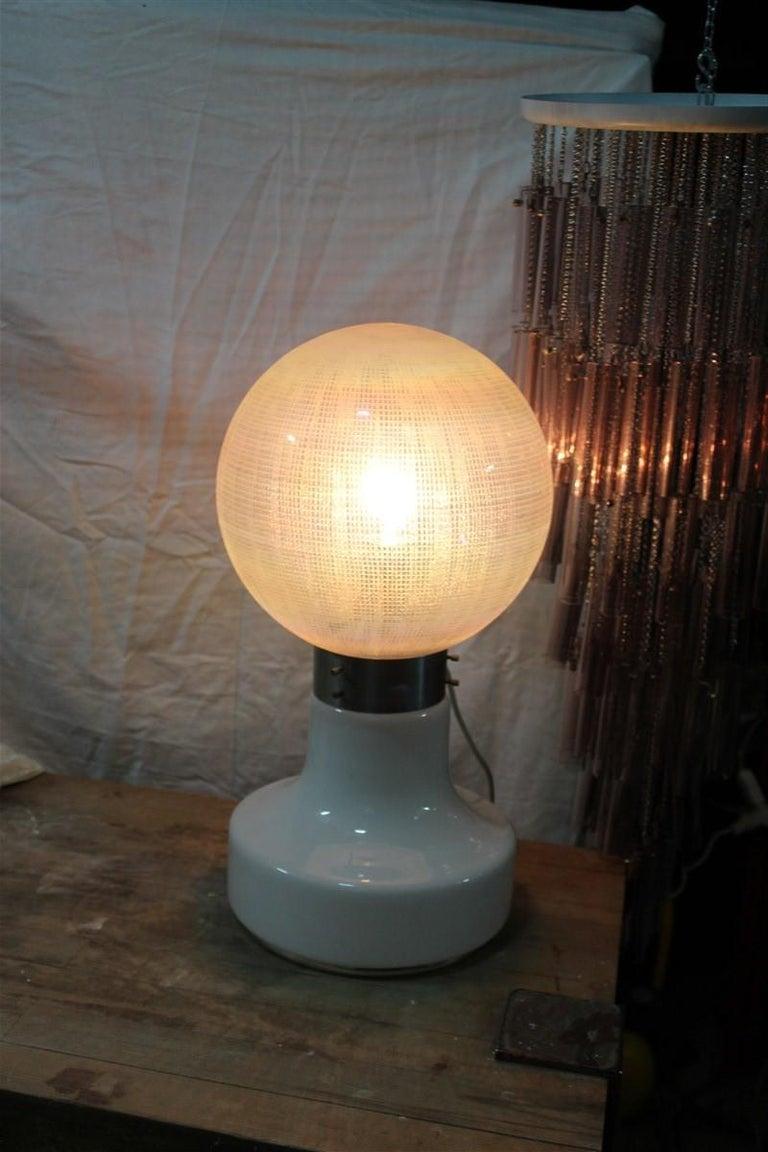 Vistosi Ball White Table Lamp Pop Art Italy 1970s Italian Design Steel For Sale 5