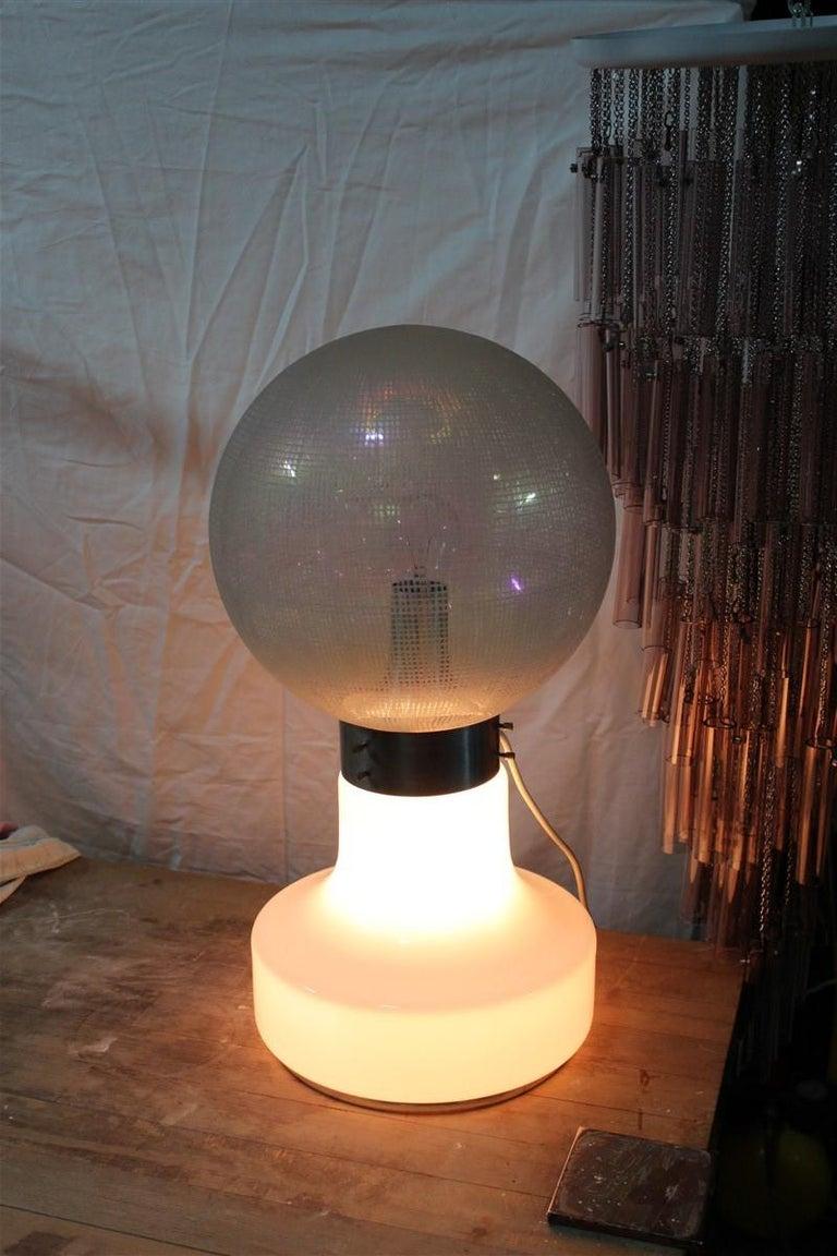 Vistosi Ball White Table Lamp Pop Art Italy 1970s Italian Design Steel For Sale 6