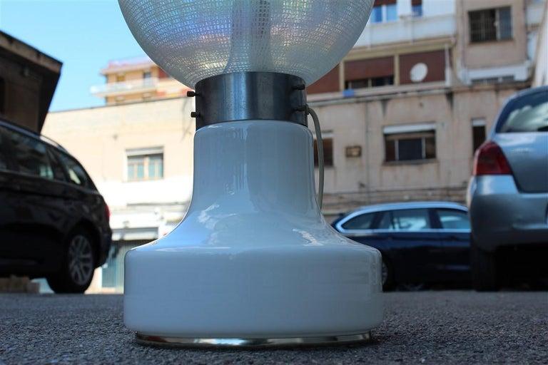 Vistosi Ball White Table Lamp Pop Art Italy 1970s Italian Design Steel For Sale 2