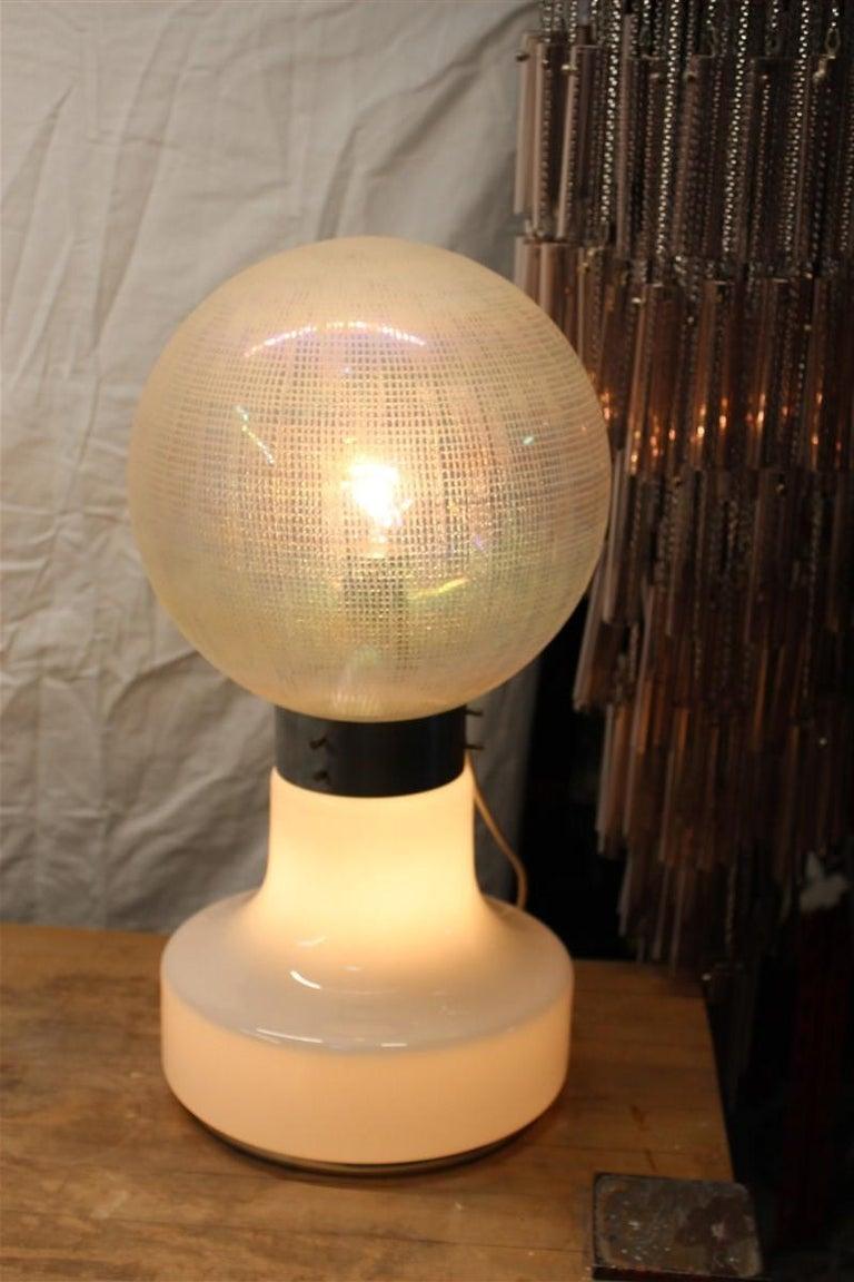 Vistosi Ball White Table Lamp Pop Art Italy 1970s Italian Design Steel For Sale 3