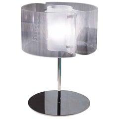 Vistosi Chimera Table Lamp in Crystal & Chrome by Giovanni Barbato