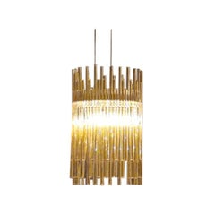 Vistosi Diadema Pendant Light in Topaz by Romani Saccani Architects
