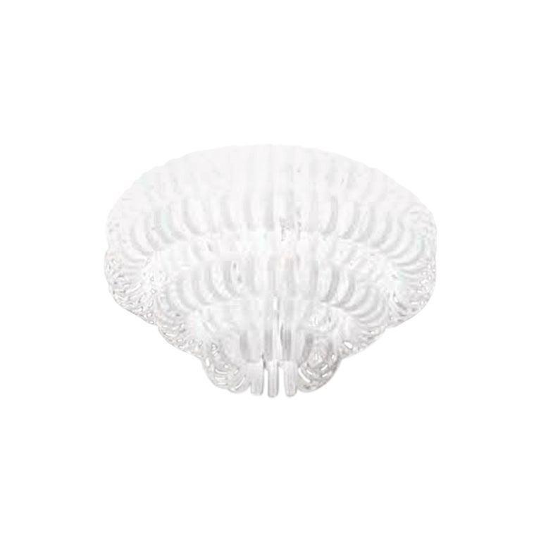 Vistosi Ecos Four-Ring Flush Light in White by Renato Toso & Noti Massari, Large