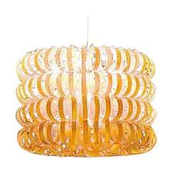 Vistosi Ecos Four-Ring Pendant Light in Orange by Renato Toso & Noti Massari