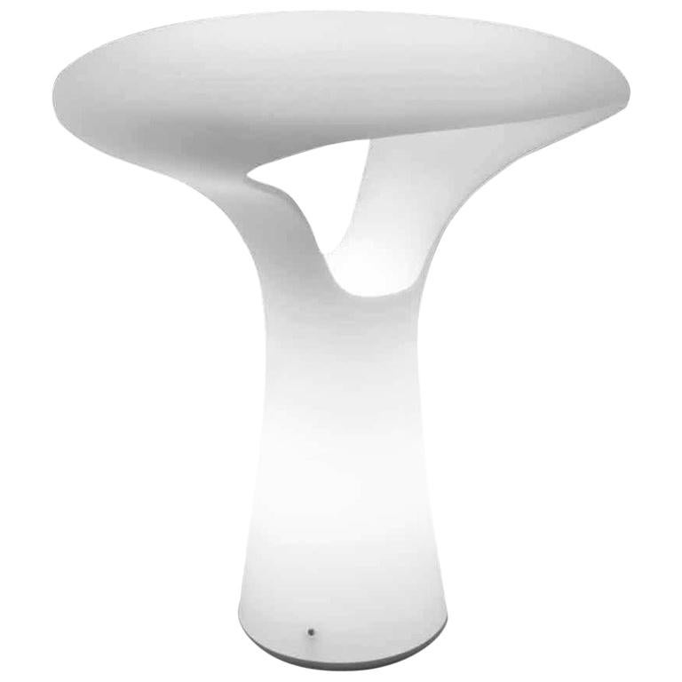 Vistosi Ferea Table Lamp in Satin White by Emmanuel Babled