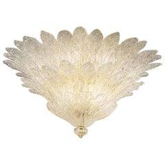 Vistosi Fuochi Flush Light in Crystal by Studio Tecnico, Standard