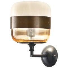 Vistosi Futura APP Wall Lamp in Amber by Hangar Design Group