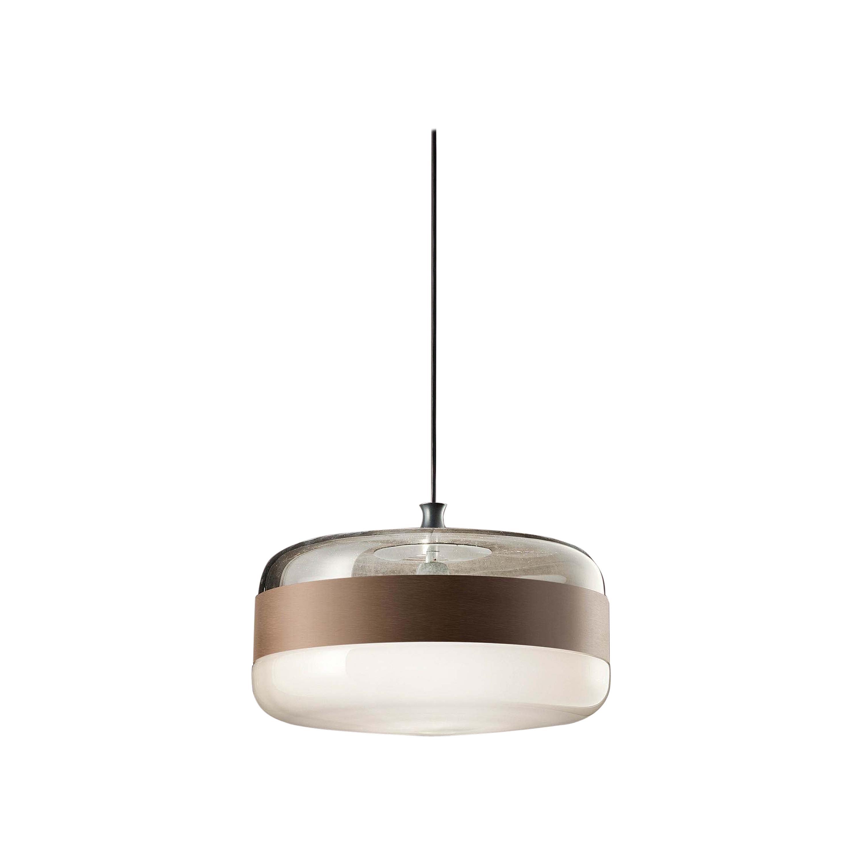 Vistosi Futura SP G Suspension Light with Black Frame by Hangar Design Group