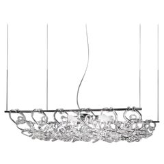 Vistosi Giogali 3D SP 50 Suspension Light in Crystal by Angelo Mangiarotti