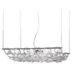 Vistosi Giogali 3D SP 50 Suspension Light in Crystal by Angelo Mangiarotti