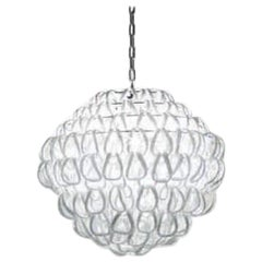 Vistosi Giogali Medium Multi-Tier Pendant Light in White by Angelo Mangiarotti