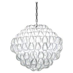Vistosi Giogali Medium Multi-Tier Pendant Light in White by Angelo Mangiarotti
