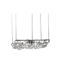 Vistosi Giogali Small Rectangular Pendant Light in Crystal by Angelo Mangiarotti