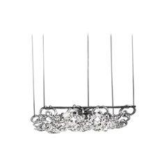 Vistosi Giogali Small Rectangular Pendant Light in Crystal by Angelo Mangiarotti
